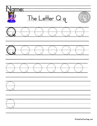 letter q handwriting practice have fun teaching
