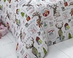 santa father christmas tree bedding duvet cover snowman reindeer
