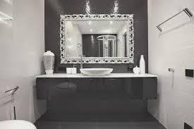beautiful home designs interior silver framed bathroom mirrors impressive design ideas using