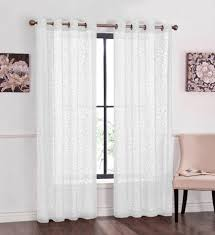 essential home medallion lace panels home home decor window