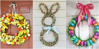 13 diy easter wreaths to make homemade easter door wreath crafts