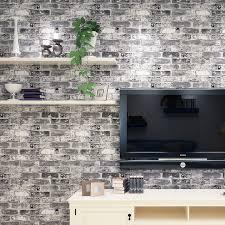 2015new non woven 3d grain brick wallpaper bedroom background red