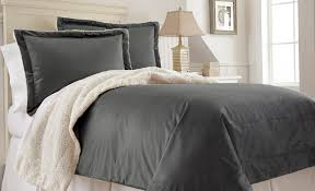 charcoal bedding micro mink sherpa 3 piece comforter set