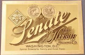 abashiri family senate beer label heurich brewing co washington d c 1900
