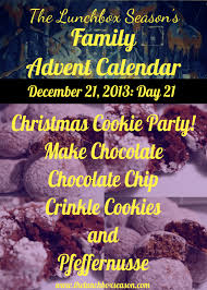 family advent calendar day 21 christmas cookie party make
