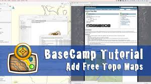 how to add free topo maps to garmin basecamp youtube