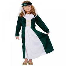 halloween costume maid medieval maiden girls fancy dress up costume maid marion tudor