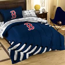 3pc mlb boston red sox baseball twin full bed comforter set
