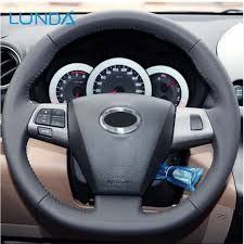 toyota corolla steering wheel cover aliexpress com buy lunda black leather stitched car