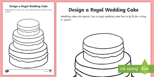 design a cake design a royal wedding cake worksheet activity sheet royal