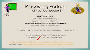 need chart paper pros and cons models of co teaching handouts
