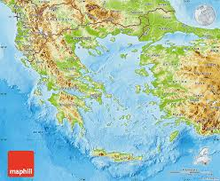 blank map of ancient greece physical map of greece