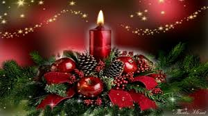 computer wallpaper christmas candles