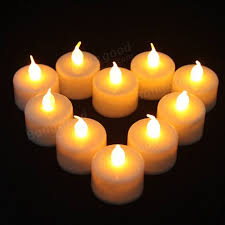 10pcs led yellow lights candles candle l light electronic