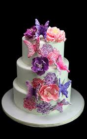 butterfly wedding cake 3d painted flower butterfly wedding cake butterfly bake