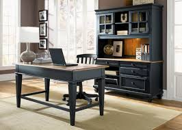 Black Home Office Furniture Liberty Bungalow Ii Black Jr Executive Home Office Set Bungalow
