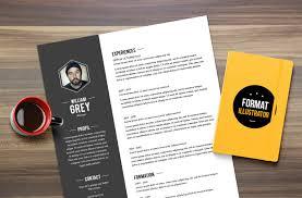 illustrator resume templates cv grey resume template illustrator by mémédanslesorties