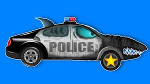 kids playtime scary police shark halloween vehicles scary
