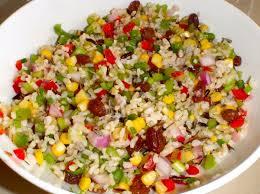 cuisiner avec un enfant salade de riz simple cuisiner avec enfant