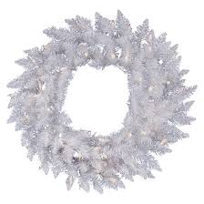 48 pre lit wreath sparkle white with white led lights