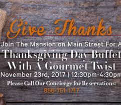 thanksgiving day buffet at the mansion best of nj nj lifestyle