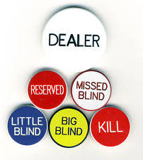 Big Blind Small Blind Rules Collectible Casino Dealer Buttons Ebay