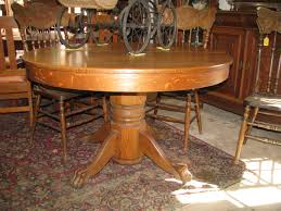 antique oak dining room chairs table appealing hastings co 48 round split pedestal dining table