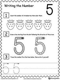 preschool writing numbers printable worksheets learn to count
