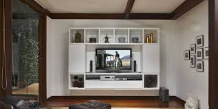furniture diy tv lift cabinet wall mounted in elegant white