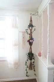 3 tier macrame plant hanger natural jute 64
