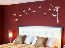bedroom ideas wall stickers for bedrooms interior design bed room entrancing bedroom wall design ideas with red color and attractive interior decals behind white