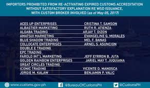 bureau int r bureau of customs ph on updates on erring importers and