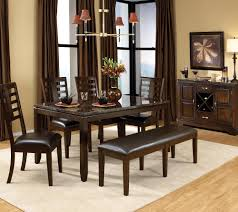 7 piece dining room set with bench dining room decor ideas and
