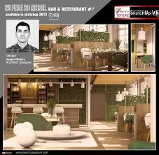 sketchup texture free sketchup 3d model modern bar u0026 restaurant 7
