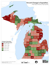 Michigan County Maps by Data Driven Detroit Michigan U0027s First Year Of Population Growth