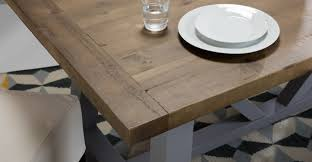 Compact Dining Table by Iona Compact Dining Table Solid Pine And Pebble Grey Made Com