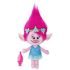 amazon dreamworks trolls poppy talkin u0027 troll plush doll toys