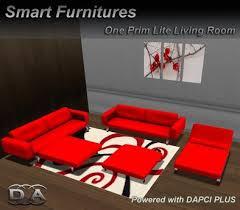 red living room set second life marketplace lite red livingroom set furniture rezzer