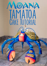 moana u0027s tamatoa gigantic coconut crab cake video tutorial ashlee