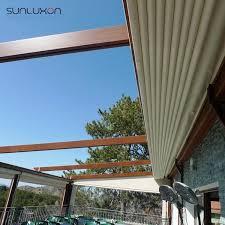 Retractable Waterproof Awnings Motorized Waterproof Aluminum Retractable Roof Pergola Motorized