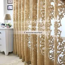 Patterned Curtains And Drapes Beautiful Yarn Patterned Semi Dark Gold Sheer Curtains