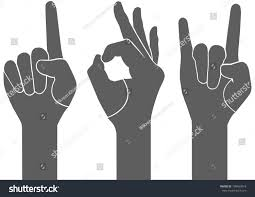 3 types gray hand sign vector เวกเตอร สต อก 190469918 shutterstock