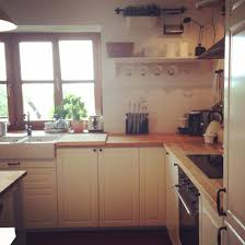 traditional shaker style kitchen off white doors porcelain sink