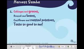 harvest samba words on screen original songs youtube