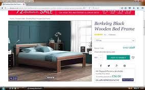 Dreams King Size Bed Berkeley Black And Walnut Wooden Bed Frame - Berkeley bedroom furniture