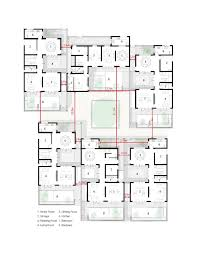 ground floor plan gallery of dongziguan affordable housing for relocalized farmers