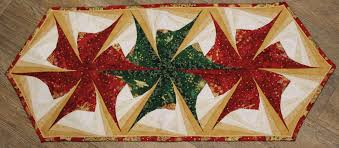 twisted cabin poinsettia table runner
