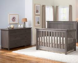 Grey Convertible Cribs Serta Northbrook Convertible Crib 5 Set Rustic Grey
