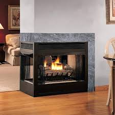 double sided gas log fire two fireplace inserts corner insert