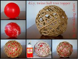 d i y twine tree topper the thinking closet